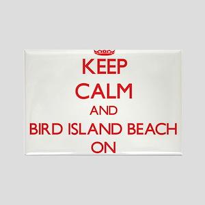 Keep calm and Bird Island Beach Northern M Magnets