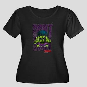 Chibi An Women's Plus Size Scoop Neck Dark T-Shirt