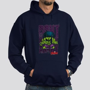 Chibi Angry Hulk Hoodie (dark)