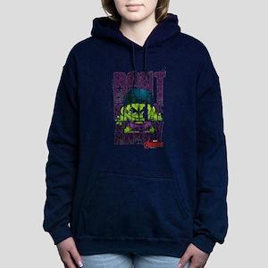 Chibi Angry Hulk Women's Hooded Sweatshirt