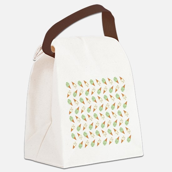 Mint Chip and Chocolate chip Canvas Lunch Bag