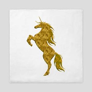Gold Unicorn Queen Duvet