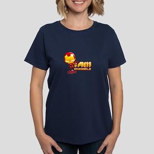 Chibi Invincible Iron Man Women's Dark T-Shirt