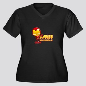 Chibi Invinc Women's Plus Size V-Neck Dark T-Shirt