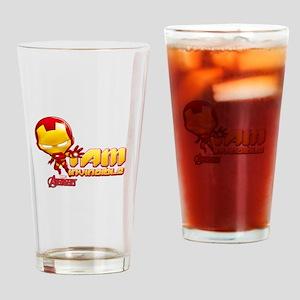 Chibi Invincible Iron Man Drinking Glass