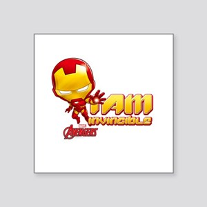 "Chibi Invincible Iron Man Square Sticker 3"" x 3"""