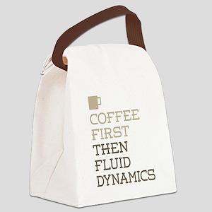 Coffee Then Fluid Dynamics Canvas Lunch Bag