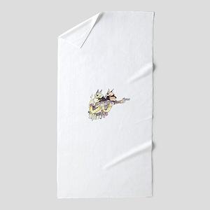 Sheepdog2 Beach Towel