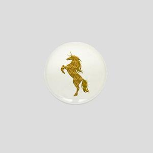 Gold Unicorn Mini Button