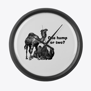 Funny Camels Large Wall Clock