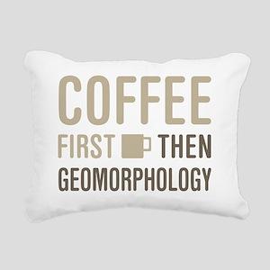 Coffee Then Geomorpholog Rectangular Canvas Pillow