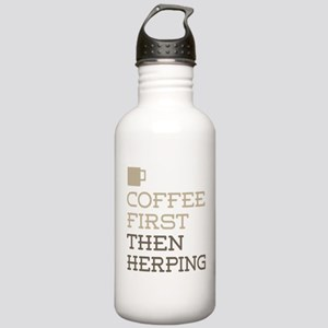 Coffee Then Herping Stainless Water Bottle 1.0L