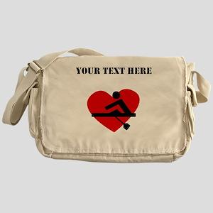 Rowing Heart (Custom) Messenger Bag