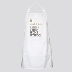 Coffee Then Home School Apron
