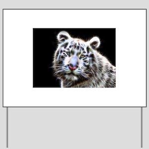 Fantasy White Tiger Yard Sign