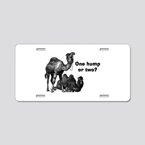 Funny Camels Aluminum License Plate