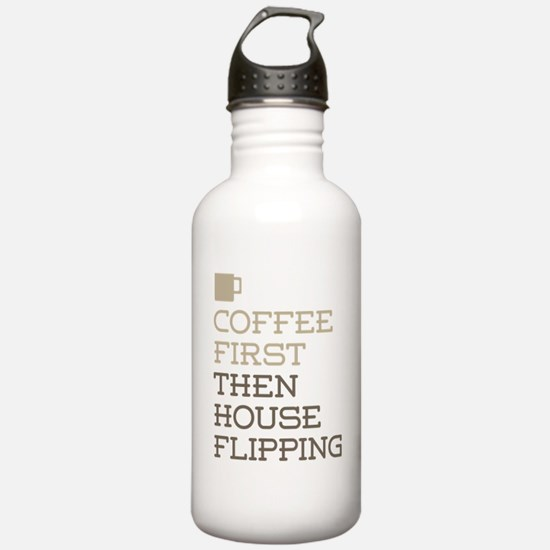 Coffee Then House Flip Water Bottle