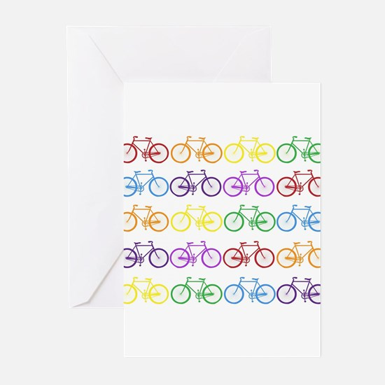 Rack O' Bicycles Greeting Cards