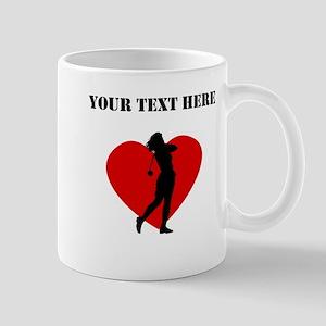 Golf Heart (Custom) Mugs