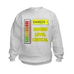 DANGER-HUNGER LEVEL CRITICAL Sweatshirt