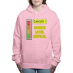 DANGER-HUNGER LEVEL CRITICAL Women's Hooded Sweats