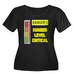 DANGER-HUNGER LEVEL CRITICAL Plus Size T-Shirt