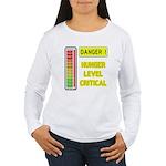 DANGER-HUNGER LEVEL CRITICAL Long Sleeve T-Shirt