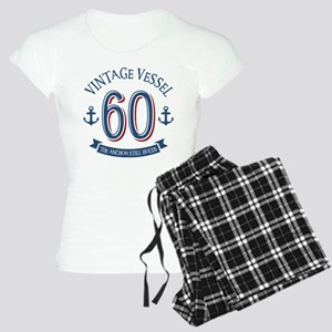 Nautical 60th Birthday Women's Light Pajamas
