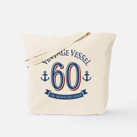 Nautical 60th Birthday Tote Bag