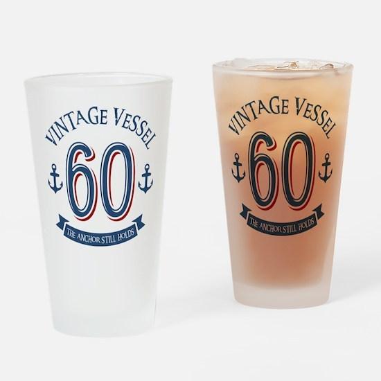 Nautical 60th Birthday Drinking Glass