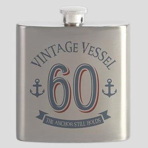 Nautical 60th Birthday Flask