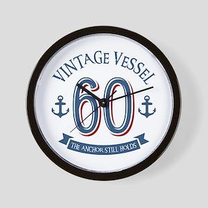 Nautical 60th Birthday Wall Clock