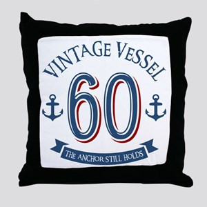 Nautical 60th Birthday Throw Pillow