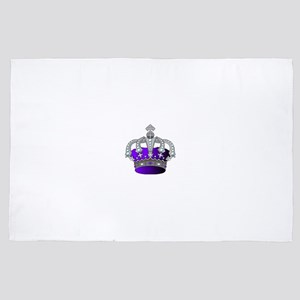 Silver & Purple Royal Crown 4' x 6' Rug