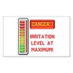 Danger-Irritation Level At Maximum! Sticker