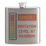 DANGER-IRRITATION LEVEL AT MAXIMUM! Flask