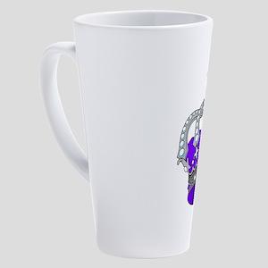 Silver & Purple Royal Crown 17 oz Latte Mug