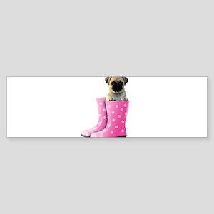 Pug in Boots Bumper Sticker