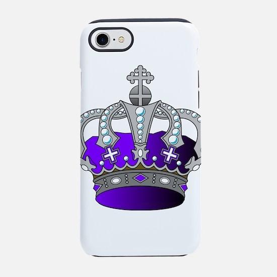 Silver & Purple Royal Cr iPhone 8/7 Tough Case