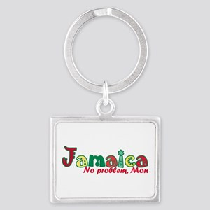 Jamaica No Problem Landscape Keychain