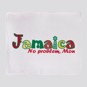 Jamaica No Problem Throw Blanket