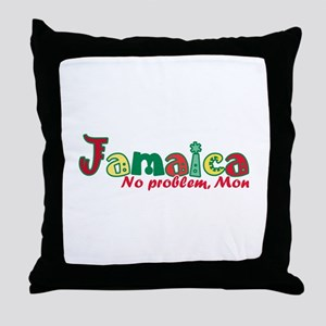 Jamaica No Problem Throw Pillow