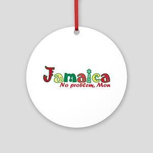 Jamaica No Problem Round Ornament