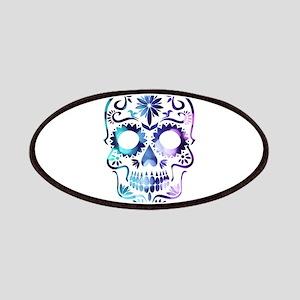 Blue & Purple Sugar Skull Patch