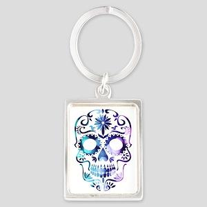 Blue & Purple Sugar Skull Keychains