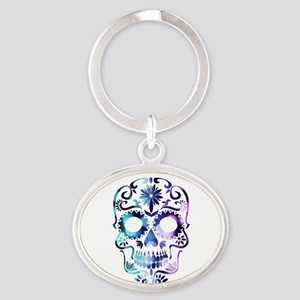 Blue & Purple Sugar Skull Keychains