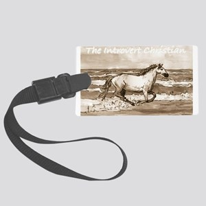 Horse On Beach Large Luggage Tag