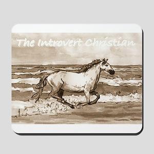Horse On Beach Mousepad