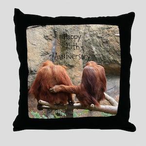 Anniversary Orangutans Throw Pillow