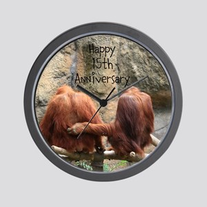Anniversary Orangutans Wall Clock